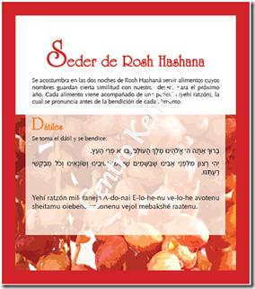 Seder Rosh Hashana