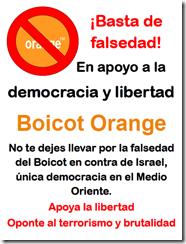 Boicot orange poster A3