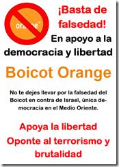 Boicot orange poster A4